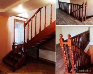 Лестница деревянная  из Ясеня в Юрьев-Польском