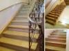 Лестница с кованным ограждением в Коврове