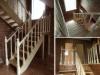 Маршевая лестница из лиственницы