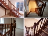 Лестница с деревянными балясиными