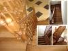 Лакированная деревянная лестница